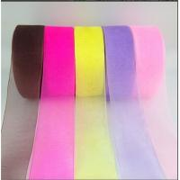 Quality Various Color Polyester Organza Ribbon Sheer Style For Gift Box Packing wholesale