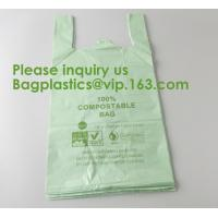 Quality Heavy Duty Compostable T-shirt Handle Tie Plastic Roll Garbage Bags Trash Bags, t shirt carry bags, bagease, bagplastics wholesale