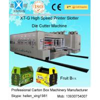 Quality Four Colours Flexo Printer Slotter Rotary Die Cutter with Stacker Machine wholesale