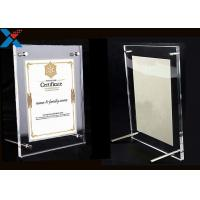 Quality Clear Acrylic Photo Frame A4 A3 Certificate / Business License Frame wholesale
