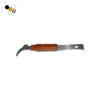 Quality 35.8cm Stainless Steel Chisel Hive Tool With Wooden Handle wholesale