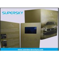 Rechargeable LCD Video Brochure , Video In Print Brochure For Advertising
