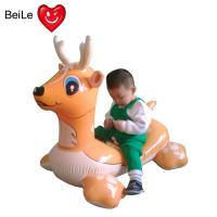 Quality PVC EN71 lovely inflatable rider on deer for swimming pool wholesale