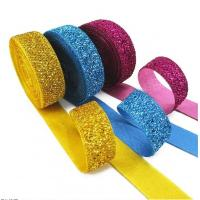 Quality Gift Packaging Metallic Glitter Ribbon Multi Color Customized Width wholesale