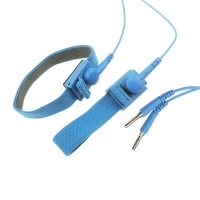 Quality 10ft Long 10mm Snap 2.4 Meter Coil ESD Wrist Straps wholesale