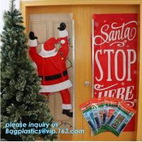 Quality China supplier Party Accessory Happy Christmas House Decoration Door Cover door poster,door covers for christmas decorat wholesale