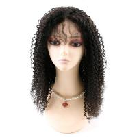 Quality Kinky Curly Front Lace Wigs , Lace Front Full Wigs Human Hair 8A Grade wholesale
