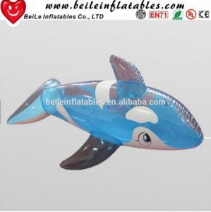 Quality Hot sale blue shark shaped funny Inflatable cartoon wholesale