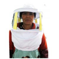 Quality Beekeeping Protective Clothing White Square Bee Veil Breathable With Round Type Bee Hat   For Beekeepers wholesale