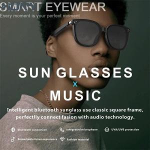 Quality USB Anti Radiation Fashion 20Hz Smart Audio Sunglasses Touch Control wholesale