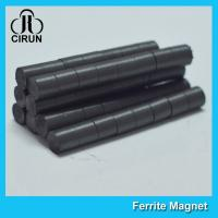Quality Hard Cylinder Ferrite Magnet For Rotors / Fridge SGS RoHS Certification wholesale