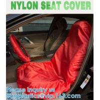 Quality Universal Reusable Nylon Car Seat Cover custom logo for car front seat to keep car clean Water resistant UV Protection wholesale