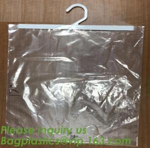 Quality self adhesive zipper hanger hook plastic bags for garment,Type hanger hook plastic bag,zipper bag manufacturers,Hook Zip wholesale