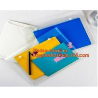 Quality OEM Office stationery filing supplies plastic document pp envelope carrying file folder bag with button closure wholesale