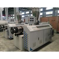 Quality Twin Screw Plastic Extruder Machine For PVC Pipe Sheet Profile And Granules wholesale