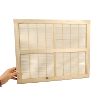 Quality 8 Frame Queen Rearing Fir Wooden Queen Excluder 51*41cm wholesale