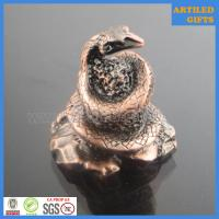 Quality Traditional Chinese zodiac souvenir 3D antique metal snake crafts wholesale