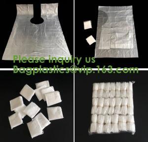 Quality compostable kitchen apron Biodegradable Gloves Sleeves PLA/PBAT/Corn Starch Compostable Bag singlet bags, vest carrier wholesale