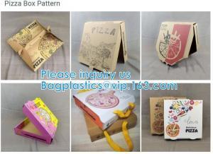 Quality Food Grade Flute Corrugated Custom Printed Size Caja Para Pizza Design Cardboard Carton Pizza Box wholesale