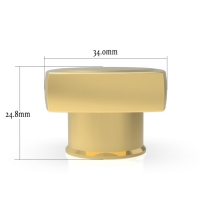 Quality Exquisite Thick Bottom Zinc Alloy Glass Perfume Bottle Cover wholesale