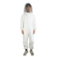 Quality Cotton Beekeeping Protective Clothing Fireproofing Net Hooded Coveralls wholesale