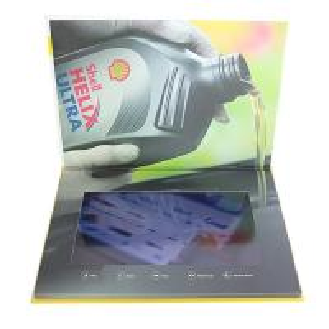 Custom Buttons Control LCD Video Brochure , IPS LCD Screen Video Brochure