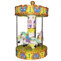 Quality 3 Seats Carousel Coin Operated Kiddie Ride / Carousel Horse Ride On Toy wholesale