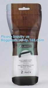 Quality doypack Matte Mylar Packaging Bag Black Plastic Aluminum Foil Smell Proof Mylar Coffee Zipper Lock Bags wholesale