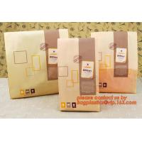 Quality Professional Food Safe Opp Clear Window Paper Bags Offset Printing, OEM Block Bottom Bags Tin Tie White Paper bags with wholesale