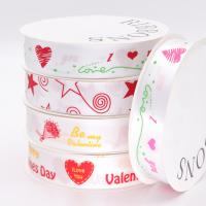 Quality Eco - Friendly Decorative Fabric Ribbon Satin Material Custom Printed Logo wholesale