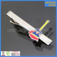 Quality Classic promotional gifts/enamel guitar shape silver metal tie pins wholesale