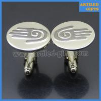 palm hand logo engraved cuff links for men 2