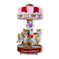 Buy cheap Children Coin Operated Kiddie Ride / Indoor Horse Merry Go Round from wholesalers