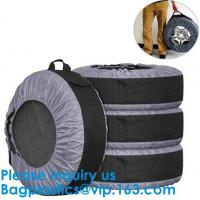 Quality Anti UV Automotive 600D Wheel And Tyre Bags Automotive Spare Tire Tyre Wheel Cover With Carrying Handles Tote Car Wheel wholesale