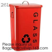 Quality Kitchen/Home/Household/Outdoor/Recycling,Copper Garbage Can Tin Garbage Bin,Pedal Tin Waste Bin,galvanized metal Tin gar wholesale