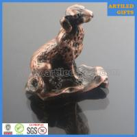 Quality Plating antique bronze casting 3D metal Dog animal tabletop gifts wholesale