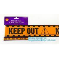 Quality Caution tape halloween underground cable warning tape,Haunted Halloween Decorations Caution Warning Tape - Trick Or Trea wholesale