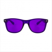 Quality Violet Tinted Glasses UV UVB Lens Light Colour Therapy Sunglasses wholesale