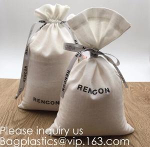Quality Double Canvas Drawstring Bag Cotton Pouch Gift Sachet Bags Muslin Bag Reusable Tea Bag,Organic Cotton Reusable Produce B wholesale