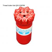 Cheap GT60 15 buttons 115mm tungsten carbide hard rock drilling thread button bits for mining for sale