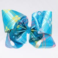 Quality Glitter Grosgrain Cheer Hair Bows Butterfly Shape Double Face For Little Girl wholesale