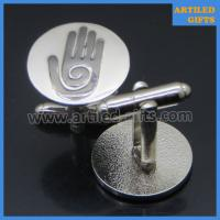 palm hand logo engraved cuff links for men 3