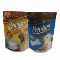 Buy cheap Premium Standing Pouch for Dog Food with Zipper and Tear Notch, High Definition Printing from wholesalers