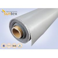 Quality 0.3 Mm Thick Blue And Black Color Silicone Fiberglass Cloth Safety Curtain Fabric wholesale
