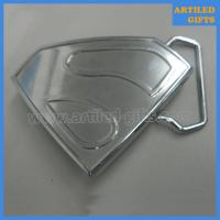 Quality Die casting zinc alloy metal superman belt buckle for mens and boys wholesale