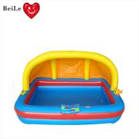 Quality Customized 0.25mm PVC(EN71) yellow and blueinflatable baby bath pool wholesale