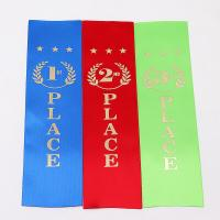 Quality Colored Custom Sports Ribbons , High Durability Athletics Place Ribbons wholesale