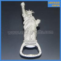 Buy cheap High quality mold free matt silver metal Statue of Liberty New York beer bottle from wholesalers
