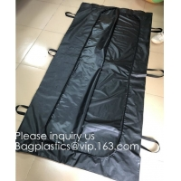 Quality Body Bags, CE Death Body Bag For Virus Infected Patient Black Body Mortuary Bags For Dead Bodies Corpse Storage Bag wholesale