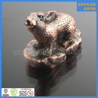 Quality High quality 12 Chinese zodiac 3D Rabbit metal tabletop decoration wholesale